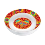 "Amscan Fiesta Serving Bowl, 3.5""H x 13"" Round Melamine, Pack of 3 (430034)"