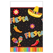 "Amscan Fiesta Fun Tablecover, 54""W x 96""L Plastic, Pack of 3 (579820)"
