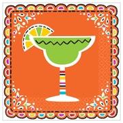 "Amscan Fiesta Picado De Papel Beverage Napkins, 5"" x 5"", Paper, 3/Pack, 36 Per Pack (701934)"