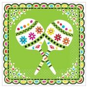 "Amscan Fiesta Picado De Papel Lunch Napkins, 6.5"" x 6.5"", Paper, 3/Pack, 36 Per Pack (711934)"