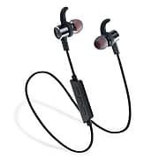 LAX Gadgets Wireless Sweatproof Headphones In-Ear Earphones Black (LAUDEX3-BLK)