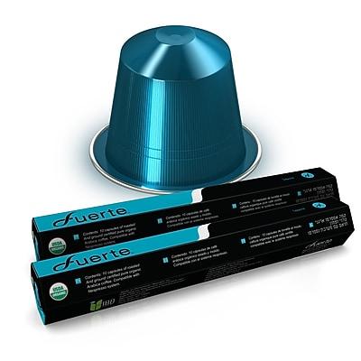 FUERTE® Nespresso®Compatible Coffee Capsule, Organic Arabica Coffee, Sapore, Pack of 20 (SB-623)