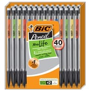 BIC Mechanical Pencil Xtra-Life Mechanical Pencil, #2, 0.7mm, 40 Pack (MPP40MJ-BLK)