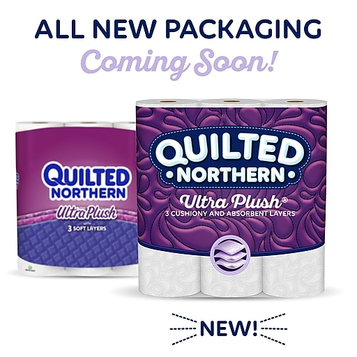 Quilted Northern Ultra Plush Bath Tissue 3 Ply 48 Double Rolls