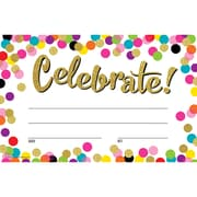 Teacher Created Resources® Confetti Celebrate! Awards, Pack of 25 (TCR8892)