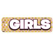 Top Notch Teacher Products® Plastic Girls Hall Pass, Emojis, Bundle of 3 (TOP10151)