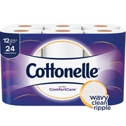 Cottonelle Ultra ComfortCare Toilet Paper, Soft Bath Tissue, 12 Double Rolls (48605)