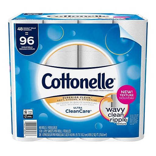 Cottonelle Ultra Cleancare Toilet Paper Strong Bath Tissue 48