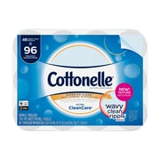 Cottonelle Ultra CleanCare Toilet Paper, Strong Bath Tissue, 48 Double Rolls (48036)