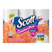 Scott ComfortPlus Toilet Paper, Mega Roll, 9 Rolls, Bath Tissue (47630)