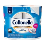 Cottonelle Ultra CleanCare Toilet Paper, Strong Bath Tissue, 4 Double Rolls (48125)