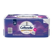 Cottonelle Ultra ComfortCare Toilet Paper, Soft Bath Tissue, 24 Double Rolls (48625)
