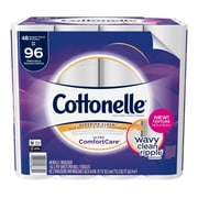 Cottonelle Ultra ComfortCare Toilet Paper, Soft Bath Tissue, 48 Double Rolls (48639)