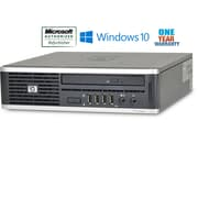 "Refurbished Hp 8000 Ultra Small Form Factor  Core 2 Duo 2.33  4Gb Ram 100Gb Hard Drive Windows 10 Home Bundled With 17"" Lcd"