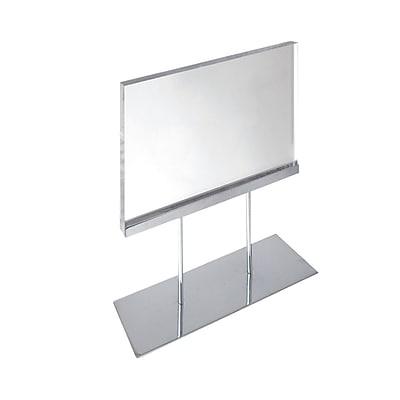 Azar Medium Acrylic Block Sign Holder On Chrome Stand For Counter (104564)