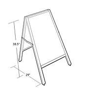 Azar Wood Frame Chalk Board (300239)