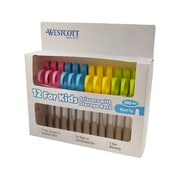 "Westcott® Kleencut® Kid's 5"" Blunt Scissors, Assorted Colors, 12/Pack (04252)"