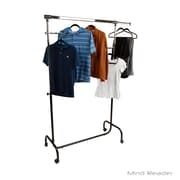 Mind Reader Heavy Duty Single Rolling Garment Rack, Silver (HDGARM-SIL)