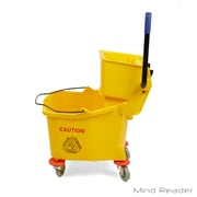 Mind Reader 36 Liter Heavy Duty Mop Wringer Trolley, Yellow (MOPT36-YLW)