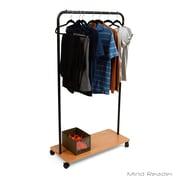 Mind Reader Heavy Duty Single Rolling Garment Rack, Black (SKATEGARM-BLK)