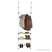 Mind Reader 2 Bars and 2 Shelves Garment and Shoes Rack, White (TELPOLE4-WHT)