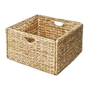 Seville Classics Woven Hyacinth Storage Cube Basket 2-Pack (WEB168)