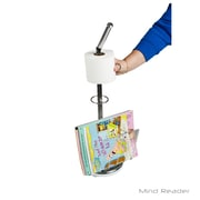 Mind Reader Stainless Steel Toilet Paper Holder with Magazine Holder, Silver (TPNEWS-SIL)