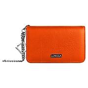 Lencca Lady Clutch Wallet Wristlet Case fits Iphone 8, Iphone 7, Iphone 6s, iphone SE, Orange (LENLEA009)