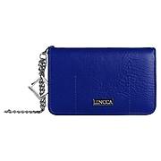 Lencca Lady Clutch Wallet Wristlet Case fits Iphone 8, Iphone 7, Iphone 6s, iphone SE, Blue (LENLEA003)