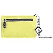 Lencca Lady Clutch Wallet Wristlet Case fits Iphone 8, Iphone 7, Iphone 6s, iphone SE, Yellow (LENLEA012)