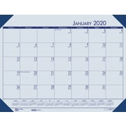 "House of Doolittle 2019 Monthly Desk Pad Calendar EcoTones Blue Paper 22"" x 17""  (HOD12""440)"