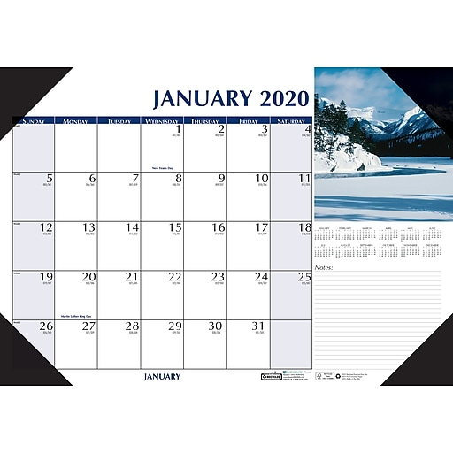 0ad27dc0175 House of Doolittle 2019 Monthly Desk Pad Calendar Earthscapes Scenic ...