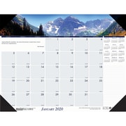 "House of Doolittle 2019 Monthly Desk Pad Calendar Earthscapes Mountains of the World 22"" x 17""  (HOD17""6)"