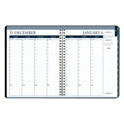 House of Doolittle 2019 House of Doolittle 8.5 x 11 Weekly/Monthly Tabbed Planner Black/Blue (HOD28302)