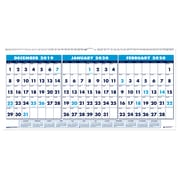 "House of Doolittle 2019 Three-Month Horizontal Wall Calendar 17"" x 8""   (HOD3647"")"