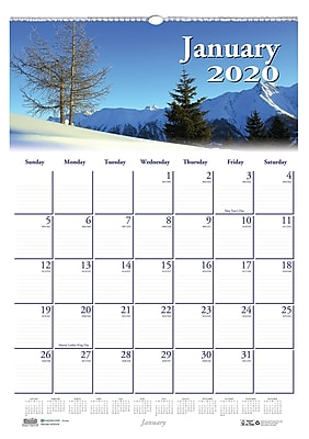 House of Doolittle 2019 Monthly Wall Calendar Earthscapes Scenic 12