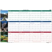 "House of Doolittle 2019 Laminated Wipe Off Wall Calendar Earthscapes Scenic Reversible 24"" x 37""  (HOD393)"