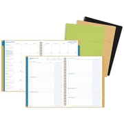 Day-Timer® Weekly/Monthly Wirebound Business Planner in Bonded Leather Cover, Assorted (87766-1901)