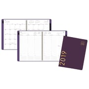 "AT-A-GLANCE® Contemporary Weekly/Monthly Appt. Book/Planner, 12 Months, January Start, 8 1/4"" x 10 7/8"", Purple (70-940X-59-19)"