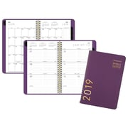 """AT-A-GLANCE® Contemporary Weekly/Monthly Planner, 12 Months, January Start, 4 7/8"""" x 8"""", Purple (70-108X-59-19)"""