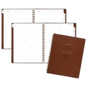 """AT-A-GLANCE® Signature Collection™ Weekly/Monthly Planner, 13 Mo., January Start, Distressed Brown, 8 3/8"""" x 11"""" (YP905-0919)"""