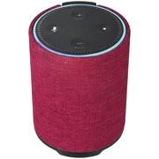 WASSERSTEIN EchoDotSpeakerRed Portable Speaker with Integrated Power Bank Charger for Amazon Echo Dot 2nd Gen, Red (DRPDOTRED)