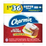 Charmin Ultra Strong Toilet Paper 6 Super Mega Rolls (72695)