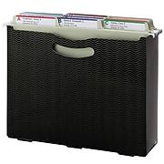 "Smead File Box, 3"" Expansion, Letter Size, Black Wave Pattern (71631)"
