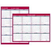 "AT-A-GLANCE® 2-Sided Compact Vertical/Horizontal Erasable Yearly Wall Calendar, 12"" x 15 11/16"" (PM330B-28-19)"