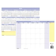 "AT-A-GLANCE® QuickNotes® Compact Erasable Wall Calendar, Monthly/Yearly, Reversible, 16"" x 12"" (PM550B-28-19)"