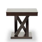 Baxton Studio Everdon End Table, Dark Brown (2633-4969-STPL)