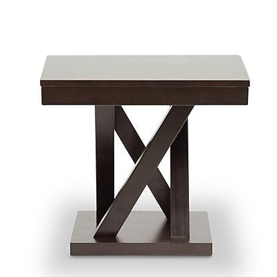 Baxton Studio Everdon End Table, Dark Brown (2633-4969-STPL)