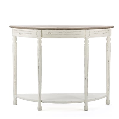 Baxton Studio Vologne Wood Console Table, White (2633-6036-STPL)