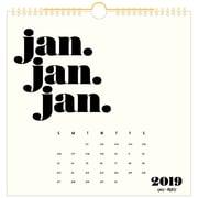 """Emily + Meritt Monthly Wall Calendar, 12 Months, January Start, Wirebound, 12"""" x 12"""" (EM100-712-19)"""